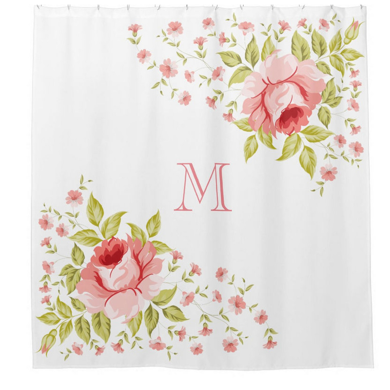 Monogram Shower Curtain Amazon Stylized Border Monogram Shower Curtain White Best Of