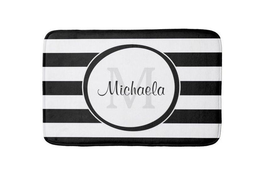 Trendy Personalized Bath Mats For Women And Teen Girls