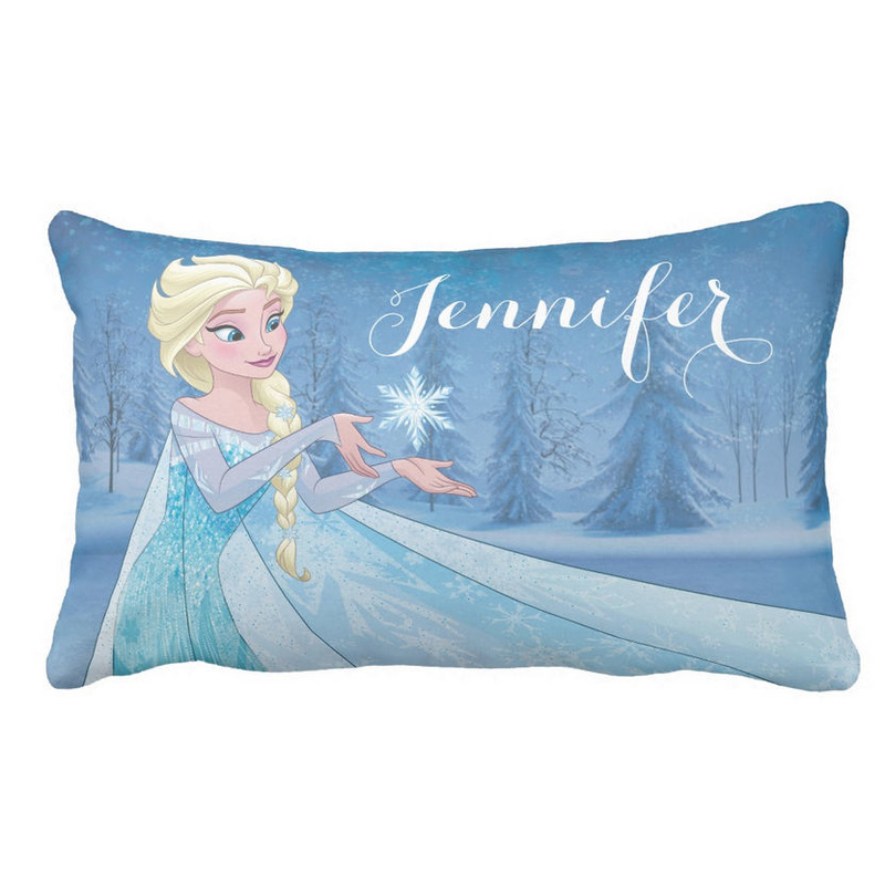 Snow Queen Elsa Let It Go Personalized With Name Lumbar Pillow For Girls